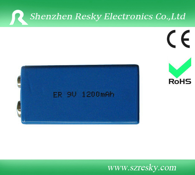 Non-rechargeable 9V battery cell