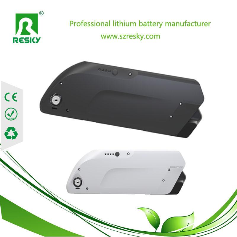48v 9ah downtube lithium e-bike battery pack