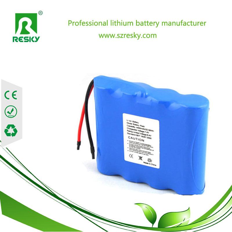 18500 4S Li-ion 1400mAh battery pack