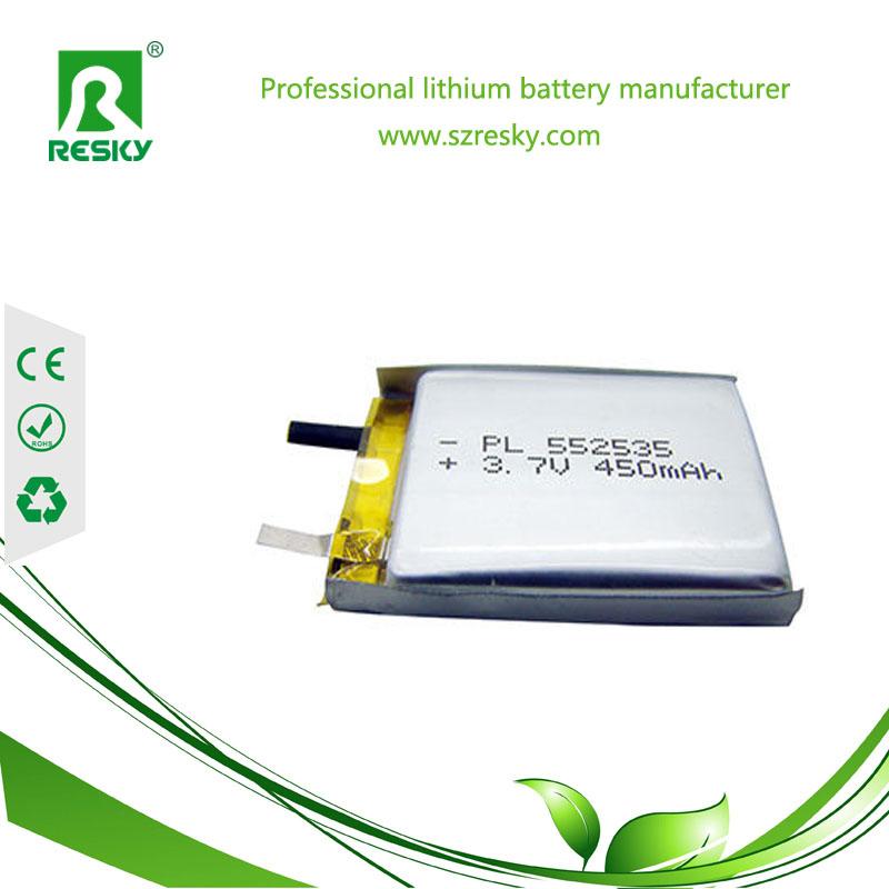 552535 3.7v 450mAh lithium battery cell