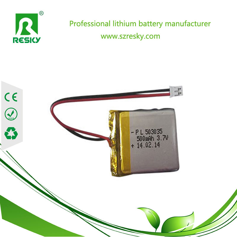 503035 500mAh li-po battery cell with PCB