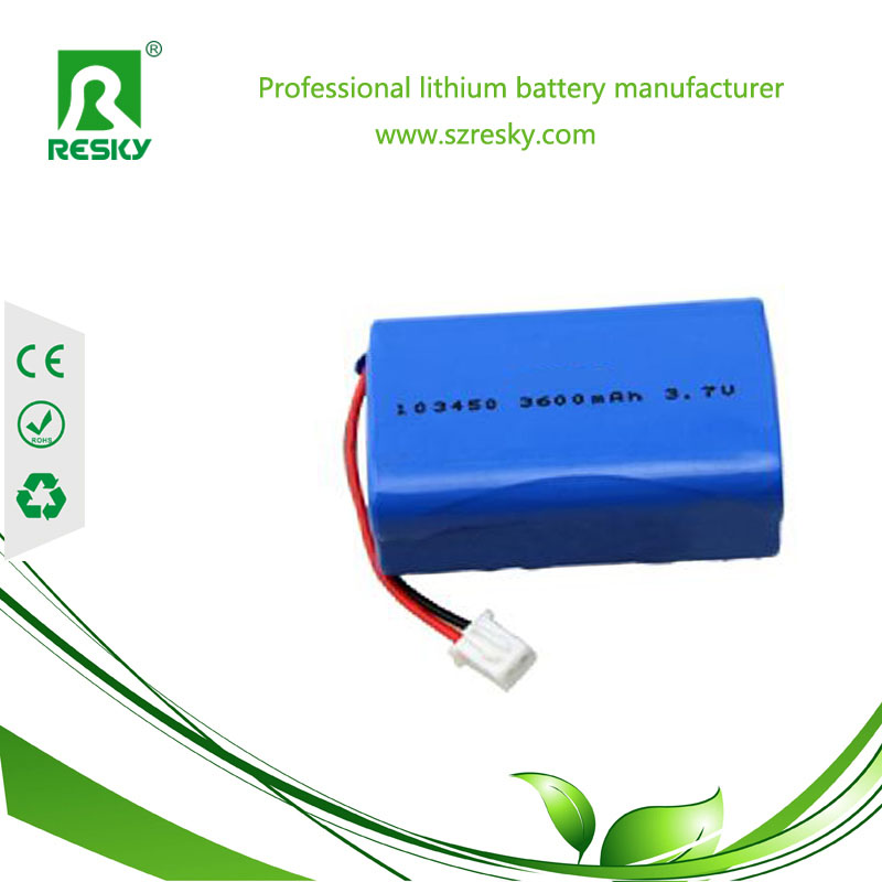 103450 3P lithium polymer battery pack