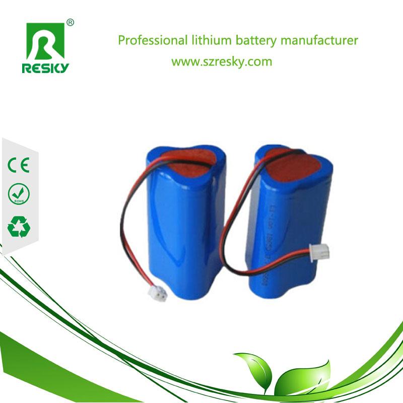 11.1V 2600mAh led lights battery pack
