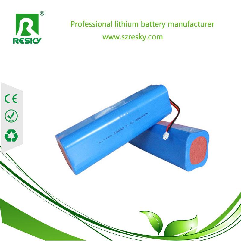 7.4v 8800mAh lithium battery pack for bike lights