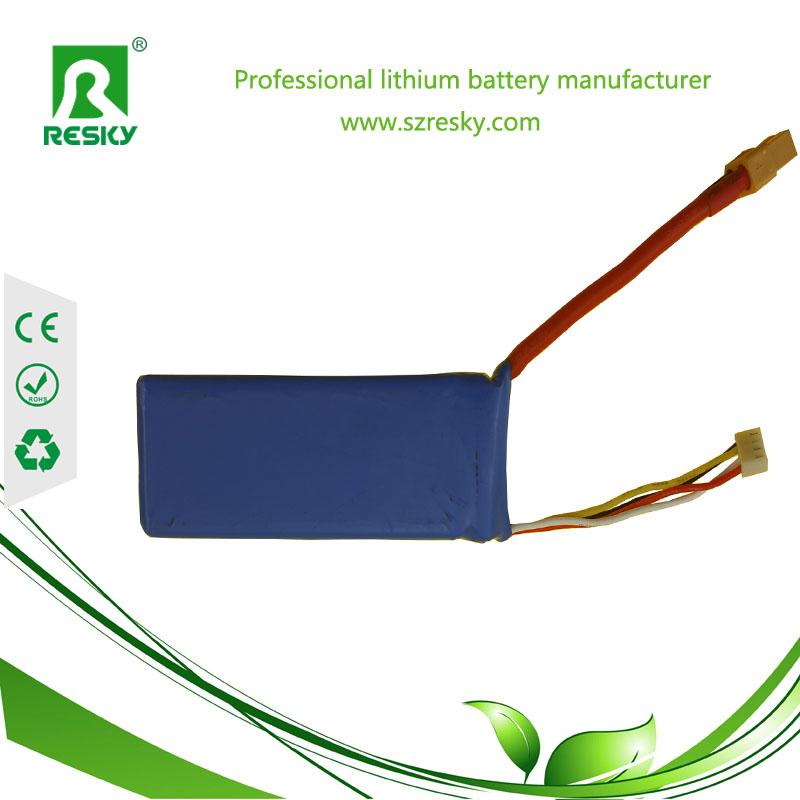 7.4v 2600mAh RC lithium battery pack
